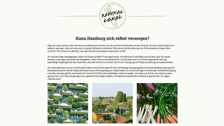 """Die Startseite des Webdossiers """"Radikal Lokal"""" auf Gruener-Journalismus.de"""