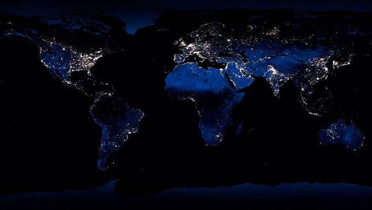 World at night map