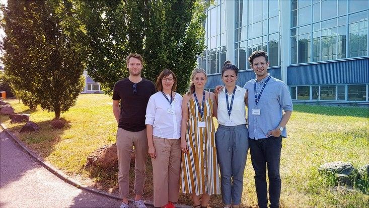 Aaron Kreimer, Prof. Boenigk, Katarina Dobberphul, Anny Hübner and Meikel Soliman in Saarbrücken