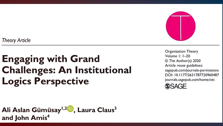 engaging with grand challenges an institutional logics perspective