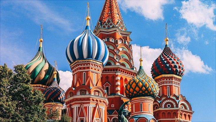 Türme der St. Basilius-Kathedrale in Moskau