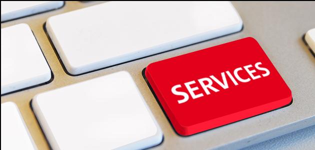 Service Taste auf Tastatur