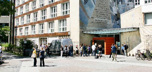 Eingang des VMP9 Gebäudes