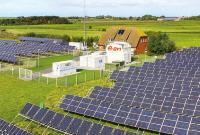 Solarfeld des Hybridkraftwerkes auf Pellworm