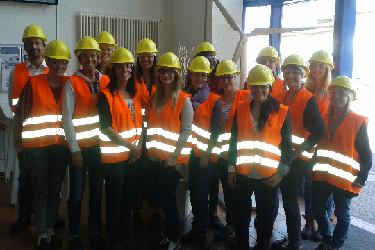 The team of Timo Busch and a group of students from the MIBAS (Master of International Business and Sustainability) at an excursion to the production facilities of Nordex in Rostock