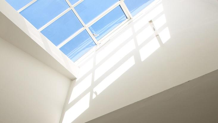 Dachfenster im Foyer