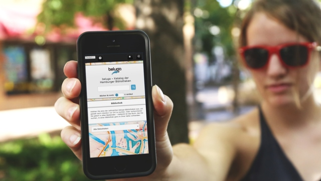 Smartphone mit beluga Katalog/Smartphone with beluga catalog
