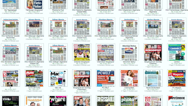 Übersicht deutschsprachigen Tagespresse/Overview German daily newspapers