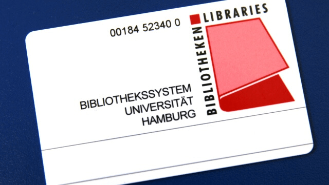 Bibliotheksausweis der Staats- und Universitätsbibliothek Hamburg – Carl von Ossietzky/Library card of the Staats- und Universitätsbibliothek Hamburg – Carl von Ossietzky