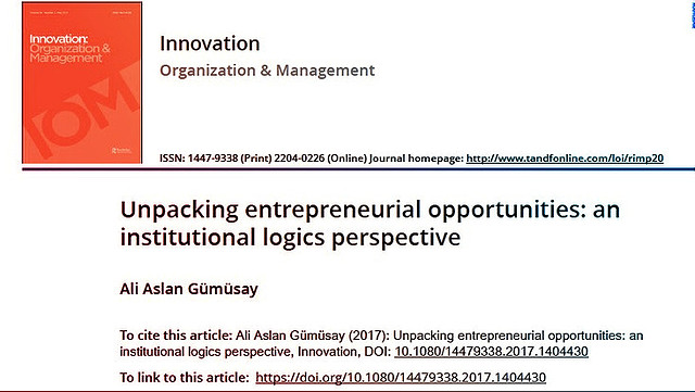 Unpacking entrepreneurial opportunities: an institutional logics perspective