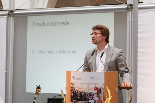 Die Rede des Absolventen Dr. Maximilian Schormair