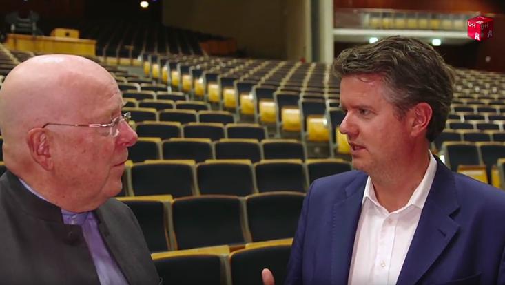 Universitätspräsident Lenzen im Gespräch mit Abendblatt-Chefredakteur Lars Haider