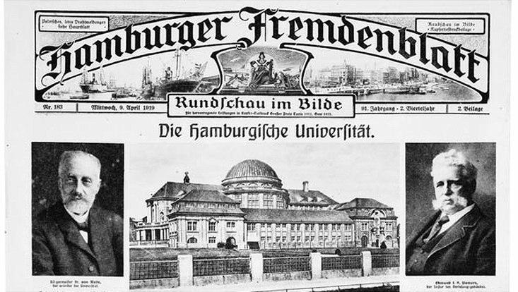 Zeitungsbericht über die Universität (1919)