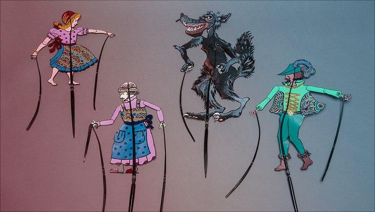 Schattenspielfiguren aus Indonesien