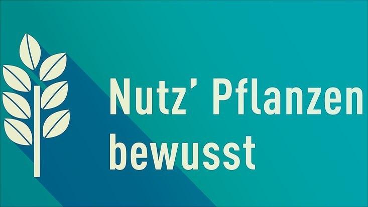 """Logo ?Nutz' Pflanzen bewusst"""""""
