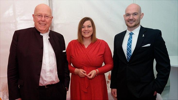 Prof. Dr. Dr. h.c. Dieter Lenzen, Katharina Fegebank und Dr. Alexander Gerst