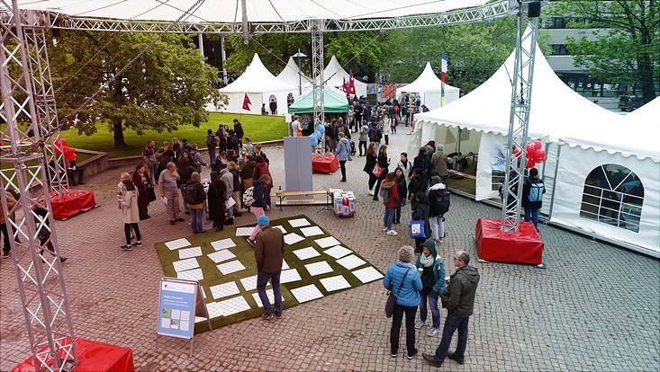 Klima-Memory auf dem Campusfest