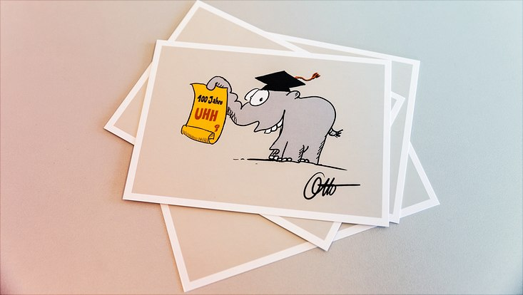 Postkarte mit Unifant
