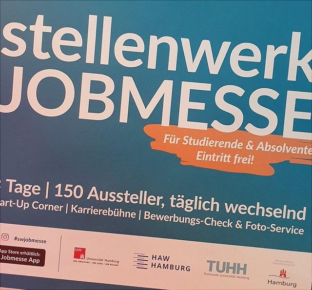 Plakataufschrift stellenwerk jobmesse