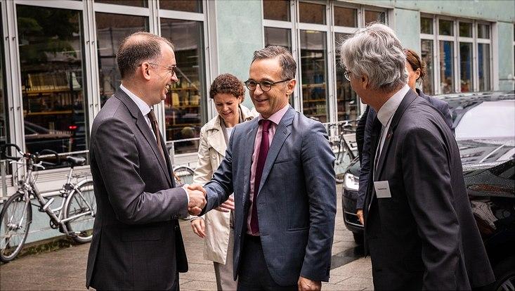 Au?enminister Heiko Maas besucht das Exzellenzcluster für Klimaforschung der Universit?t Hamburg.