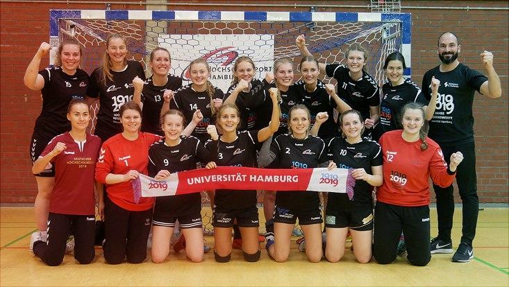Die Handballerinnen der WG Hamburg