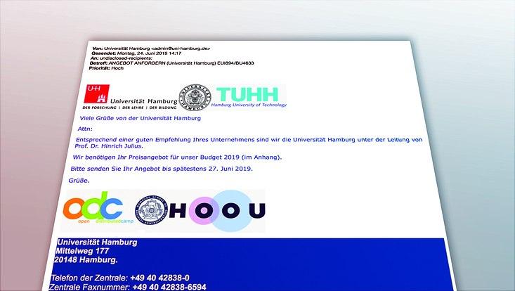 Beispiel einer Phishing-Mail