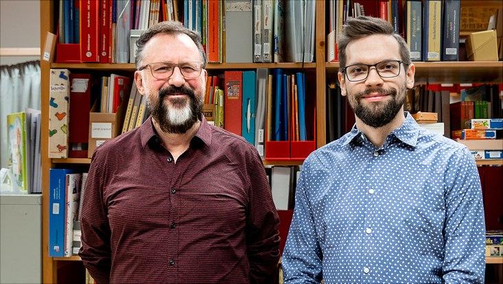 Prof. Dr. André Frank Zimpel und Torben Rieckmann