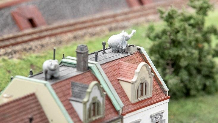 Ottifanten im Miniatur Wunderland
