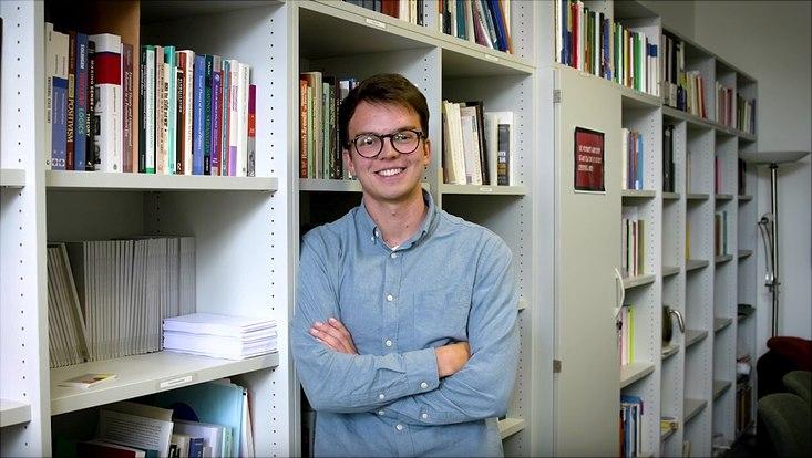 """David Weiß, Preisträger des Studierendenwettbewerbs """"Armes Hamburg – Reiches Hamburg"""""""