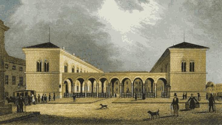 Johanneum am Speersort um 1840