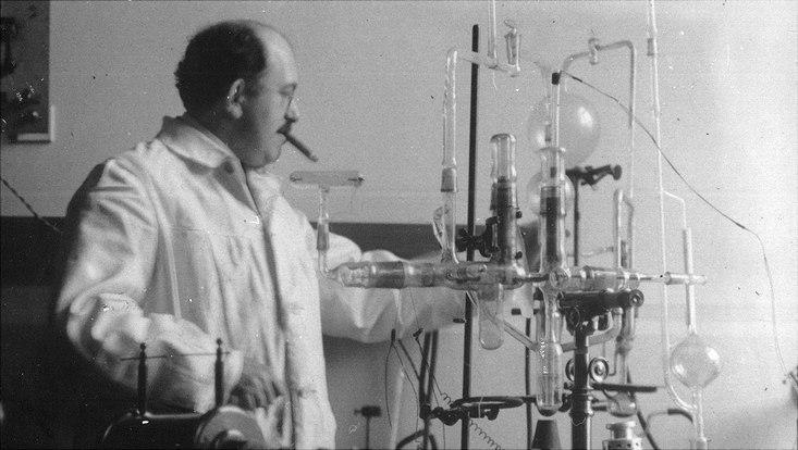 Otto Stern im Labor
