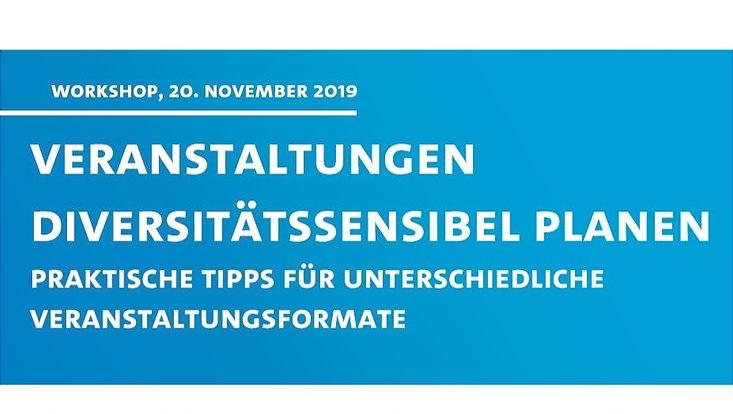 Plakat Workshop diversitätssensbel planen