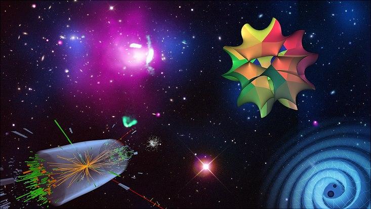 grafik von qu - ein universum