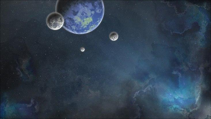 Darstellung Exoplanet