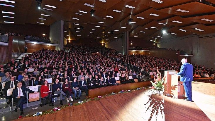 Immatrikulationsfeier 2019 im Auximax der Universität Hamburg.