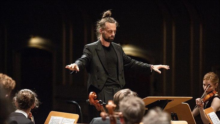 Prof. Thomas Posth beim Konzert in der Laeiszhalle