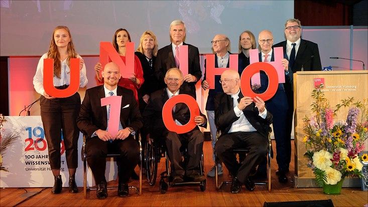 Hundert-Jahr-Feier der Universität am 10. Mai 2019 unter anderem mit Wolfgang Schäuble, Alex Gerst und Otto Waalkes.
