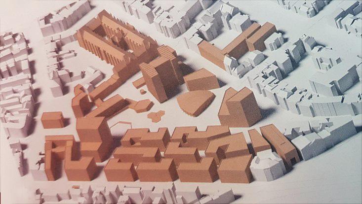 Modell des Campus Von-Melle-Park