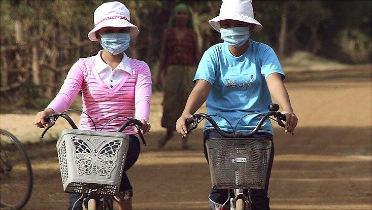 Radfahrerinnen in China