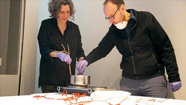 Kulturhistorikerin Dr. Donna Bilak und Dr. Dominik Hünniger