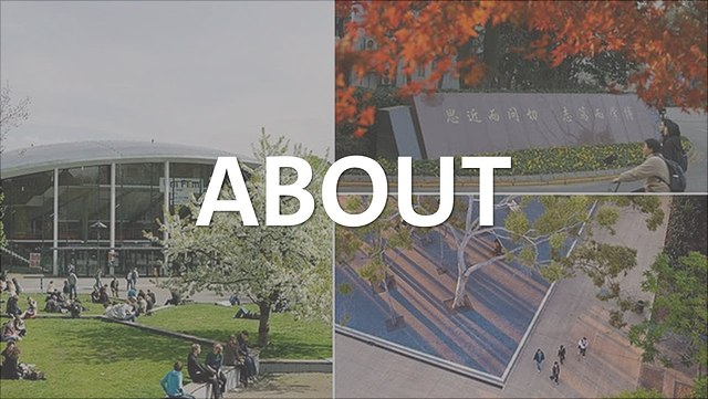 collage of three university campuses