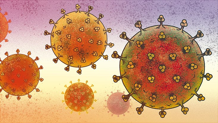 Illustration des Coronavirus