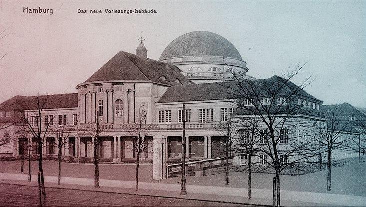 Postkarte des Hauptgebäudes der Universität von 1911