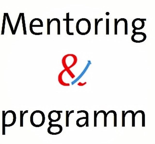"""Schriftzug """"Mentoring&programm"""""""