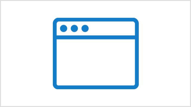 Icon, das ein Browser-Fenster zeigt