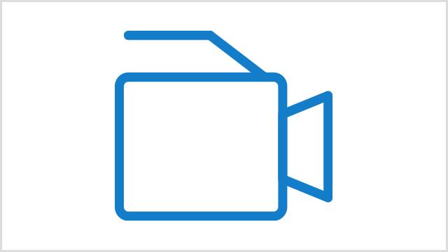 Icon, das eine Videokamera zeigt