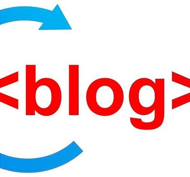 """Schriftzug """"Blog"""""""