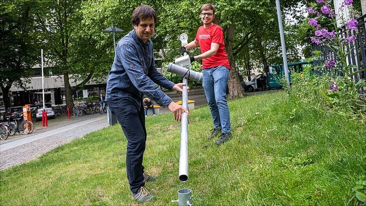 Aufbau einer Messstation für die Erforschung von Gewittern an der Universität Hamburg