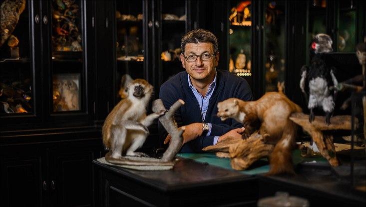 Prof. Glaubrecht in der zoologischen Sammlung der Universität Hamburg