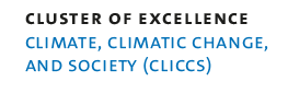 "Logo ""Climate, Climatic Change, and Society (CLICCS)"""